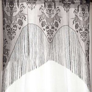 Lace Skull Bat Curtain Valance